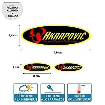 Aufkleber Aufkleber Oval Akrapovic Hoch Temperatur Laminat Druck Digital Hochwertig Rohr Auspuff 3 Einheiten