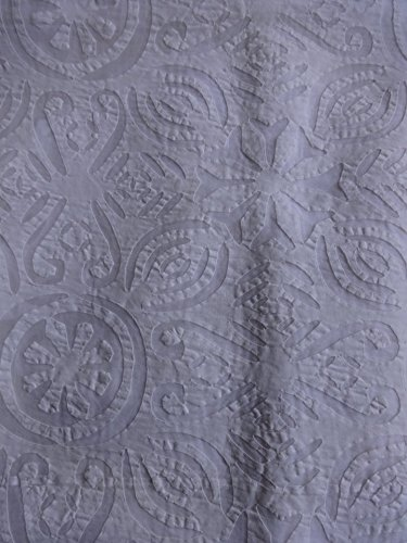 Queen Applique Bedding India, Hand Made Bedspread, Cutwork Bedspread, White Color Queen size hand made bedspread, Traditional Art India by Trade Star Exports (Image #1)