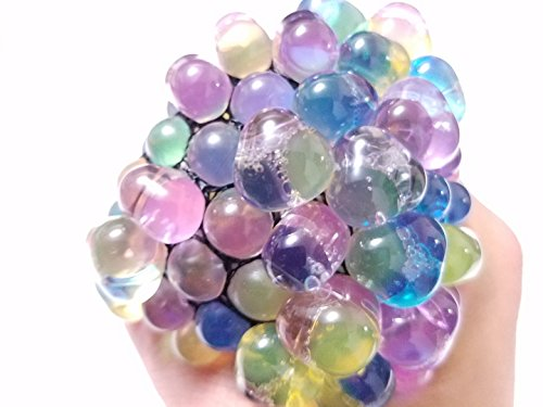 "X-Large 2,75"" Rainbow Squishy Anti Stress Reliever Jelly Beads Grape Ball Autism Mood Squeeze Kid Toy Gift"