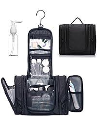 Expandable Toiletry Bag Dopp Kit TSA Approved Bottles Water Resistant Nylon, Black