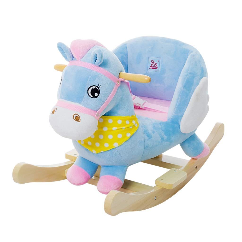 ロッキング 馬 ライティング ベビー おもちゃ 2回使用 ソリッドウッド 音楽 ベビーロッキングチェア 1~3歳 ギフト   B07L2QRHM7
