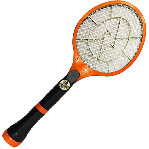 Electric Bug Zapper Racket is how to keep bugs away while camping and avoid mosquitoes, flies and other insects