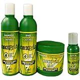 Boe Crece Pelo Ensemble - produits repousse cheveux, masque 450g, shampooing 370ml, rinçage 350g, Crece Pelo Revitalisant Sans Rinçage 113g
