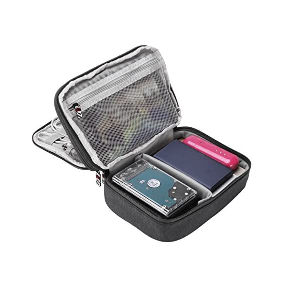 GETKO WITH DEVICE Waterproof Double Layer-Electronic Travel Organiser (28cm x 20cm x 3.5cm, Black)