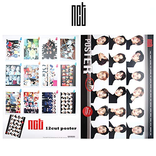 kpop Boy Group NCT Fan Goods Official Photo Poster Set 12 Unique Sheets Bromide : Ver.1