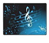 Liili Placemat Natural Rubber Material Blue music theme abstract musical background Photo 5508079