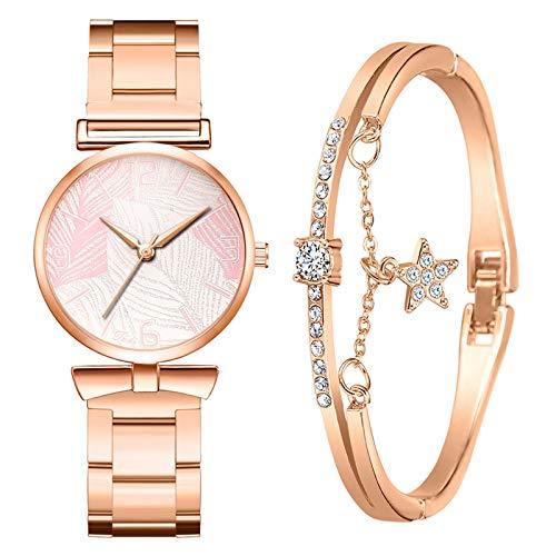 Damen Uhr Set Armband Uhr Elegante Frauenuhren Damenuhr Geschenk Set Kreative Frauen Uhren Armbanduhren Quarz Uhren Geschenke für Frauen MiMiey (StyleA01#)