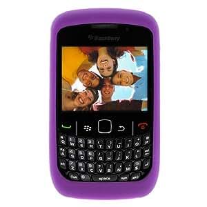 Funda de silicona Soft/piel/protectora–Púrpura para RIM BlackBerry Curve 935093609370