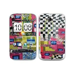 Diabloskinz B0063-0004-0015 Arte / Pintura al óleo de color rosa / gelb Vinilo Piel für HTC Wildfire S