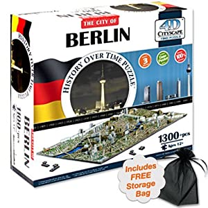 4D Berlin, Germany Cityscape Time Puzzle with Free Storage Bag by 4D Cityscape