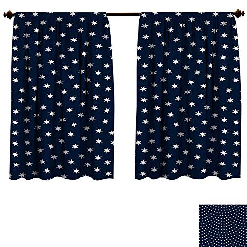 curtains for bedroo Vector abstract seamless wavy pattern with geometrical scale layout Silver metallic stars and snowflakes on a dark indigo blue background Wallpaper wrapdrapes panels W63