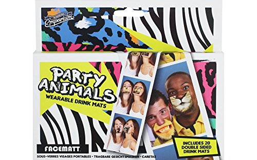 Party Animals Face/Beer Mats! Fun and Practical way