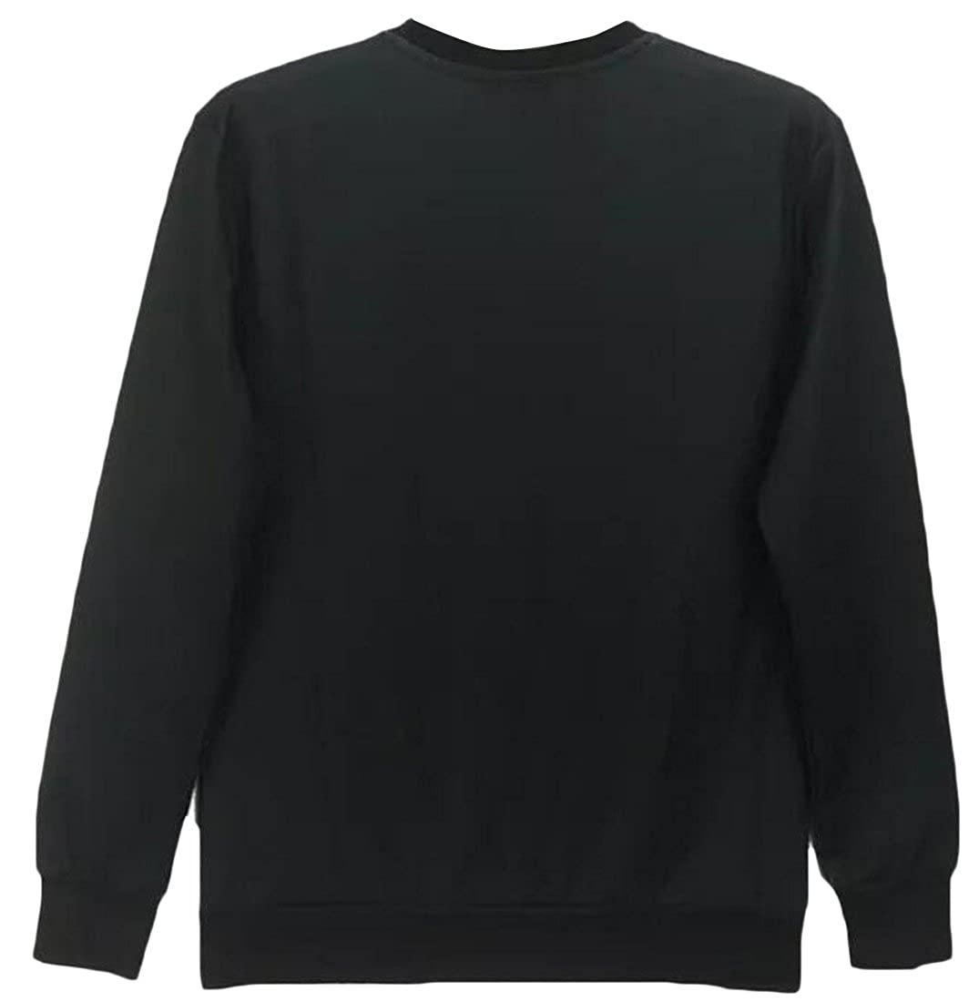 Honey GD Womens Digital Print Slim Fit Crew-Neck Pullover Sweatshirt
