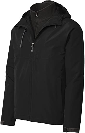 Mens Hooded Full Zip Jacket Windbreaker with Pockets Water Resistant XS-4XL NEW