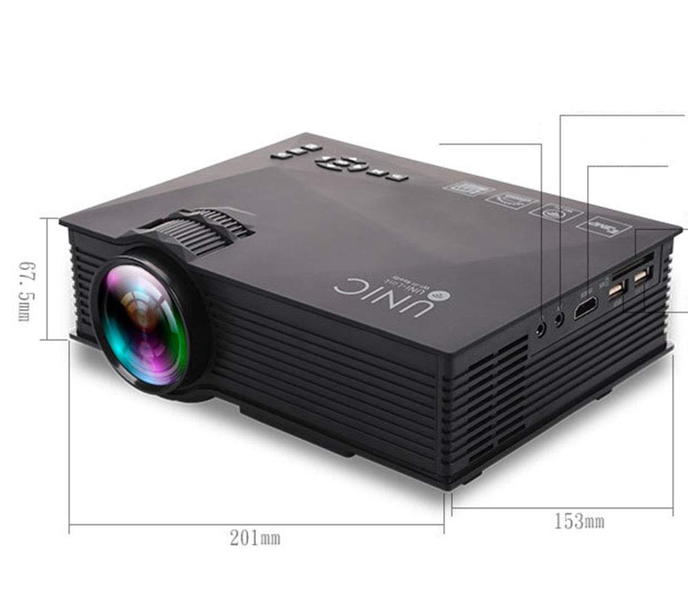 FULANTE Proyector, Mini LED portátil Mini proyector Pico 1080P HD ...