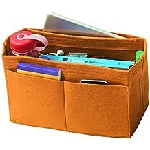 [Fits Speedy 35, Light Coffee] Felt Organizer, Bag in Bag, Wool Purse Insert, Customized Tote Organize, Cosmetic Makeup Diaper Handbag