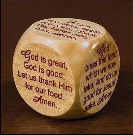 Gift Cube (Wooden Mealtime Prayer Cube for Children and Families)
