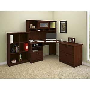 Amazon Com Cabot Corner Desk With Hutch Lateral File