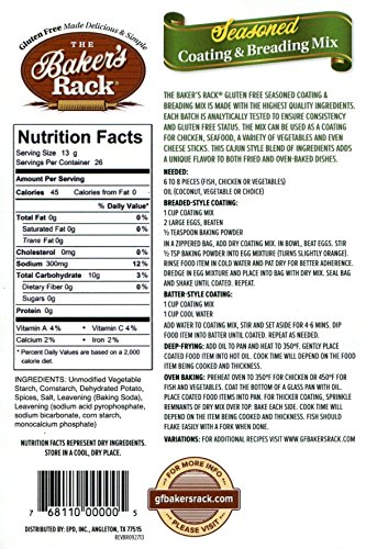 Baker's Rack Gluten Free Seasoned Breading Mix, 12 Ounce