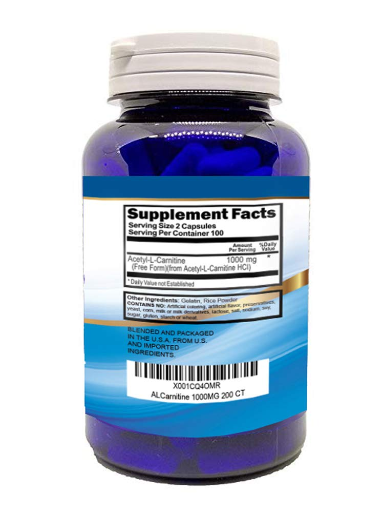Acetyl L-Carnitine 1000mg 200 Capsules (ALCAR) by S SUPERIOR HEALTH (Image #3)