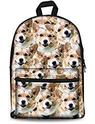 Bigcardesigns Back to School Canvas Book Bag Backpack for Teens