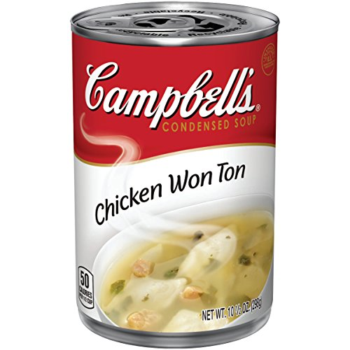 Campbell's Condensed Chicken Wonton Soup, 10.5 oz. Can (Pack of 12)
