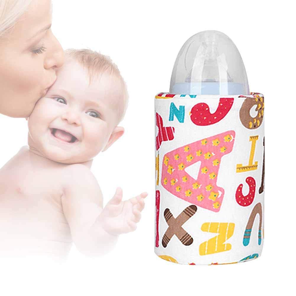 VOVI Baby Bottle Warmer Breast Milk Warmer Portable Baby Feeding Bottle Traveling Milk Heating Warmer Insulation Bag USB Constant Temperature Bottle Warmer Baby Feeding Bottle Bag