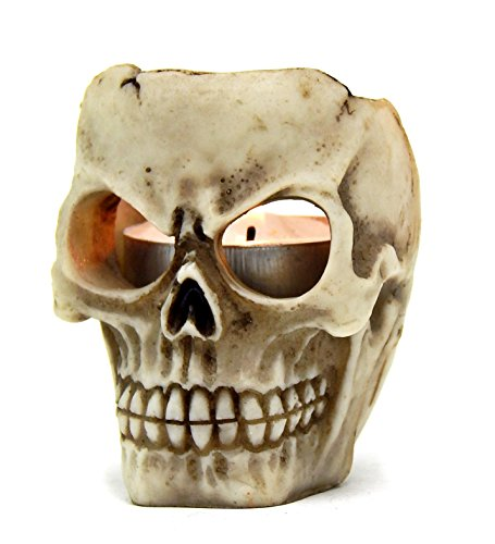 Amazing-Skull-Votive-Ritual-T-light-Candle-Holder-Figurine-Wicca-Pagan-Witchcraft