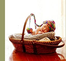 Newborn baby infant photography prop handmade woven basket D-16