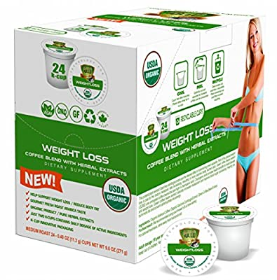 SOLLO K-Cup Keurig 2.0 Compatible COFFEE Pods, Weight Loss Control, Suppresses Appetite, Slimming COFFEE, Strong Antioxidant, Organic by USDA, GCBE, Garcinia Cambogia Herbal Extracts, 24 Count by SOLLO