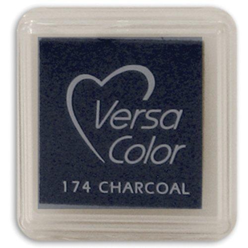 (Tsukineko Small-Size VersaColor Ultimate Pigment Inkpad, Charcoal )