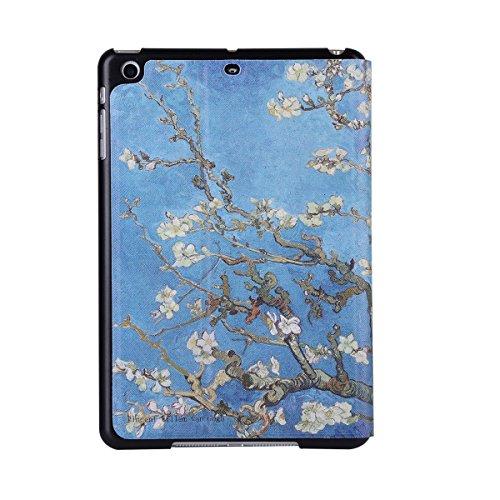 inShang 9.7 inch iPad (2017) Fundas soporte y carcasa para Apple 9.7 inch iPad (2017) , smart cover PU Funda ,art style Apricot flower