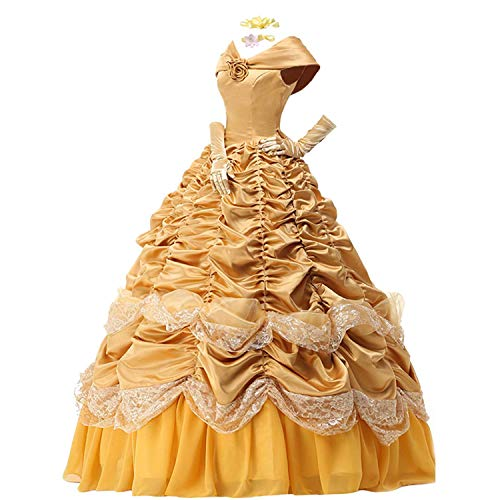 Womens Princess Dress Satin Party Costume Ball Gown Prom Dresses Cape Gloves (L) - http://coolthings.us
