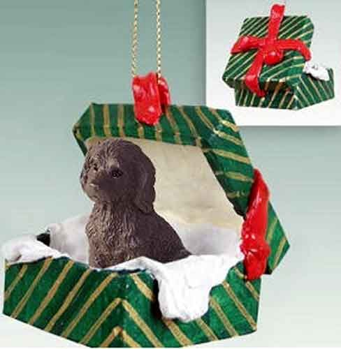 - Labradoodle Gift Box Christmas Ornament Chocolate - DELIGHTFUL!