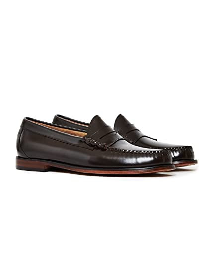 75d96fd3345 G.H. Bass   Co. Mens Weejun Larson Moc Penny Brown Leather Shoes 11 ...
