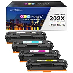 GPC Image Compatible Cartridge Replacement for HP 202X 202A CF500X CF501X CF502X CF503X Black Cyan Yellow Magenta (CF500A CF501A CF502A CF503A) Package Include:  1x HP 202X Black Toner | 1x HP 202X Cyan Toner | 1x HP 202X Magenta Toner...