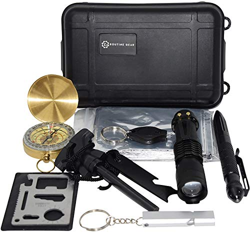 Emergency Survival Kit for Zombie Apocalypse, Everyday Carry, or Outdoor Adventures by Routine Gear
