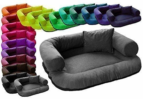 tierlando ch5-02 Charly Canapé lit pour chien velours 120x90 cm Graphite
