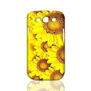 Flowers Blooming Sunflowers Backgrounds 3D Rough Case Skin, fashion design image custom, durable hard 3D , Case New Design For Case Ipod Touch 5 Cover , By Codystore