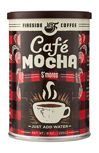 Fireside Coffee Cafe Mocha Instant Flavored Coffee, S'mores- 8 oz Canister