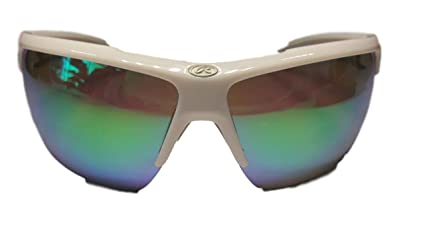 a2953b716d67 Image Unavailable. Image not available for. Color: Rawlings 19 Mirrored  Sunglasses White Green
