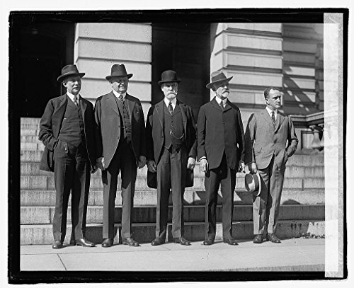 Vintography Reproduced 16 x 20 Photo of: Root, Underwood, Hughes, Lodge, Mills, 10/12/21 1921 National Photo Company