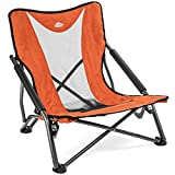 Cascade Mountain Tech Compact Low Profile Outdoor Folding Camp Chair with Carry Case - Orange