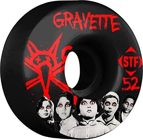 Skateboard Wheels Black 52-Millimeter BONES Wheels Gravette Seed V3