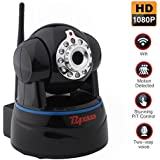 HD 1080P Wireless IP Camera WiFi Home Security Cameras Baby/Elderly Monitor Nanny Cam Dog Camera Pan/Tilt With Two-Way Audio and Night Vision