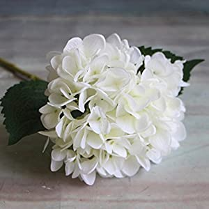 XHSP 5 Heads Artificial Silk Flower 6 Branches Hydrangea Home Hotel Wedding Party Garden Decor 82