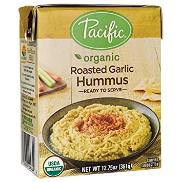 Pacific Natural Foods Organic Roasted Garlic Hummus 12.75 oz (361 grams) Pkg