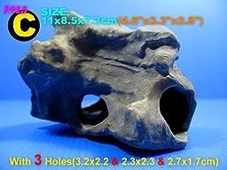 DR. MOSS Cichlid Stone Ceramic Aquarium Rock Cave Decor Fish Tank F923C