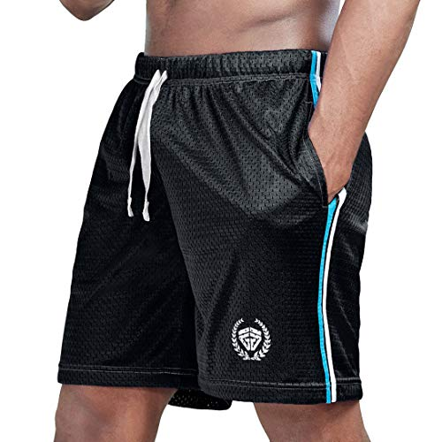 athletic shorts men running jersey mesh casual