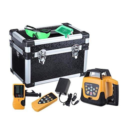 Rotary Level Control (Iglobalbuy Automatic Self-leveling Rotary Laser Level Green Beam 500m Range W/ Remote Control)